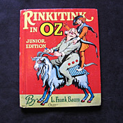 "SALE 1939 Frank Baum's ""Rinkitink in Oz"" Junior Rand Mcnally Book"