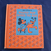 "The The Golden Library Cloth Book ""Walt Disney's Pluto Pup Goes To Sea"""