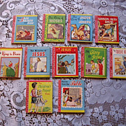 SOLD 1949 Miniature Religious Lolly Pop Book Set