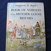 "SALE 1954 First Edition Marquerite De Angeli's ""Book Of Nursery and Mother Goose Rhymes"""