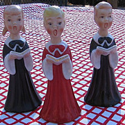1950's Japan Porcelain Choir Salt and Pepper Shakers