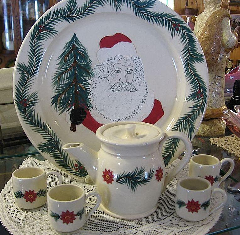 1994 Mill Creek Stoneware Christmas Set