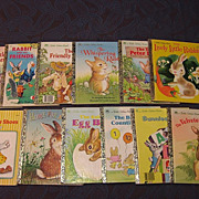 SALE Little Golden Book Rabbit Set Of Twelve Books