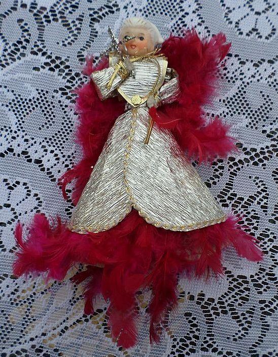 Christmas Porcelain Head Angel Treetop