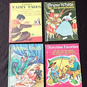 SALE 1940's-1950's Children Wonder Book Story Book Set Of Four