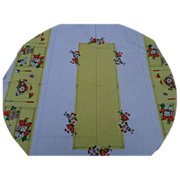 SALE Colorful Linen Tablecloth
