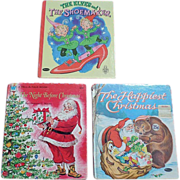 SALE Whitman Tell A Tale Christmas Book Set of Three