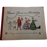 "SALE Rare 1930 ""Aunt Brown's Birthday"" First Edition Children Book"