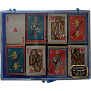 Rare Bridgepoint Wood and Wax Miniature Matches Set