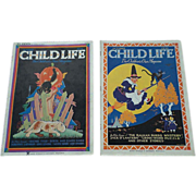 SOLD Rare 1930's October Issues Child Life Magazines Set Of Two