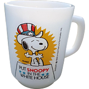 "SALE ""Put Snoopy In The White House"" Fireking Glass Mug"