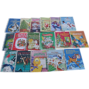 SALE Christmas Little Golden Book Set of Seventeen Books