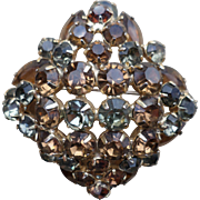 Julianna Amber Rhinestone Pin