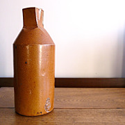 19th century English salt glaze ink bottle