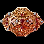 Unsigned vintage Renaissance Revival brooch