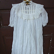SALE Victorian Lace and Lawn Christening Gown and Slip Set