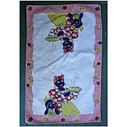 Black Americana Mammy Makes a Pie Vintage Kitchen Towel