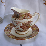Nasco Mountain Woodland Creamer with Service Plate