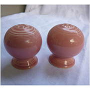 New Fiesta Rose Salt and Pepper Shakers