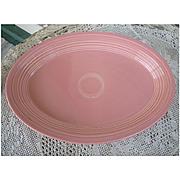 New Fiesta Rose Oval Platter 13 Inch