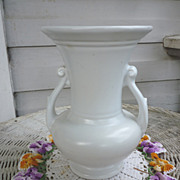 SOLD White Abingdon Vase with Handles Classic Urn