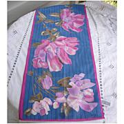 Vintage Vera Big Pink Petals Print Scarf