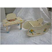 Vogue Ginnette Tender and Shoo-fly Rocker Set