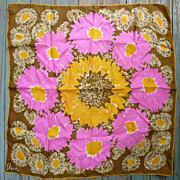 Vintage Vera Pop Art Big Flowers Print Scarf