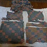Gingham Plaids Four Patch One Patch Quilt Blocks