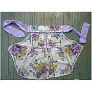SALE Pretty Floral Print Hankies Vintage Apron