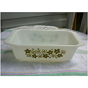 Pyrex Spring Blossom Green Loaf Pan
