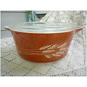 Pyrex Cinderella Autumn Harvest 2 ½ Quart  Casserole Dish with Lid. 475-B