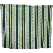 Vertical Stripes and Leaves Vintage Barkcloth Piece
