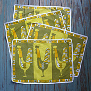 Brit B Design Vintage Roosters Placemats Set of 4