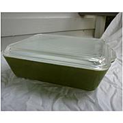 Pyrex Verde 503 Leftover Refrigerator Dish with Lid 1 ½ Qt
