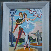 SALE Pas De Deux Ballet Paint by Number PBN Framed Signed