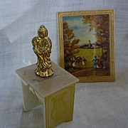 Ideal Petite Princess Lyre Table Set with Picture and Buddha