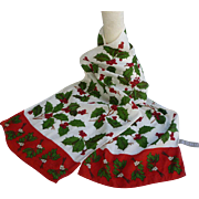 SOLD Echo Holiday Holly and Mistletoe Silk Scarf