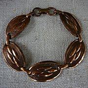 SALE 50's Modern Copper Links Bracelet Great Patina