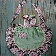 Pinafore Paisley Rose Chintz and Satin Apron