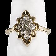 14K Yellow Gold & Diamond Pinky Ring