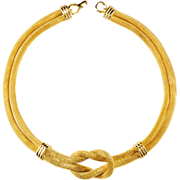 Balenciaga Paris Mesh Knotted Necklace