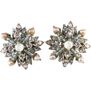 Jose and Maria Barrera Rhinestone Earrings