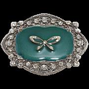 SALE Pierre Bex Style Edwardian Revival Rhinestone Bow Brooch Pin