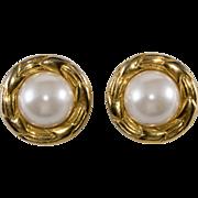 CHANEL Faux-Pearl 1970s Earrings