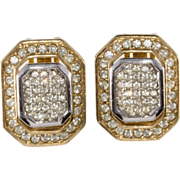 Christian Dior 1980s Rhinestone Earrings
