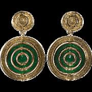 Ciner 1960s Color Change Dangle Earrings