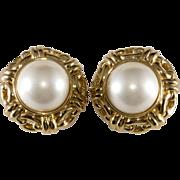 Ciner Mabe' Pearl Earrings