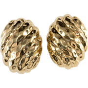 Ciner Textured Gold-Tone Earrings