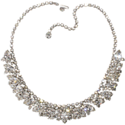 Weiss Style Clear Rhinestone Necklace